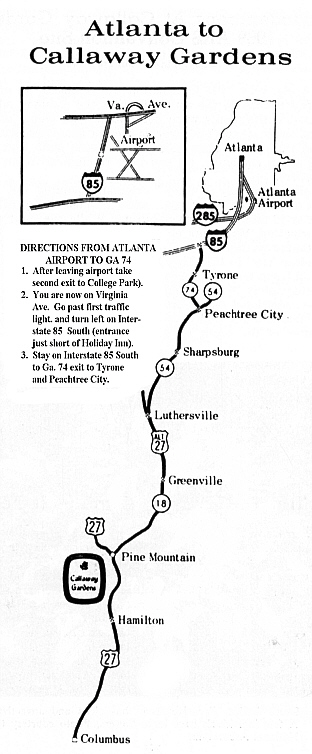Callaway Gardens Georgia Map.Qbars V23n1 1969 National Convention Program Rhododendrons At