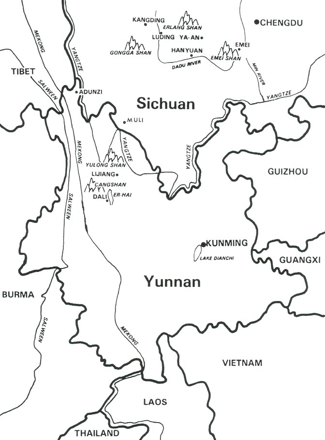 jars v45n4 in the steps of kingdon ward through muli Tibet China china map