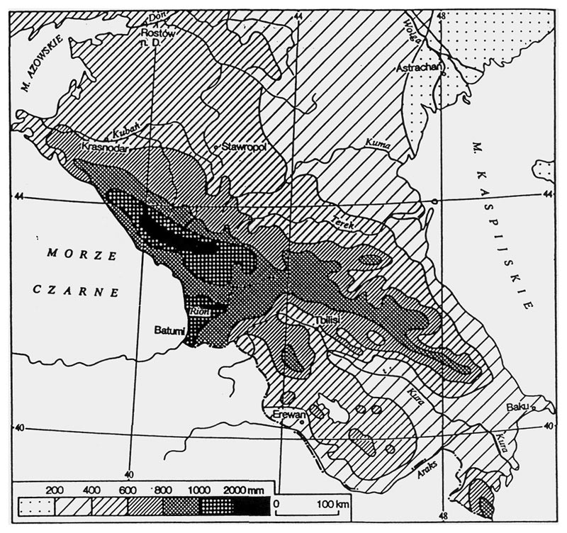 jars v52n2 rhododendrons in the former soviet union Sputnik in Space figure 1 distribution of precipitation in the caucasus area