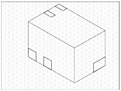 how to draw isometric circle on inclined plane