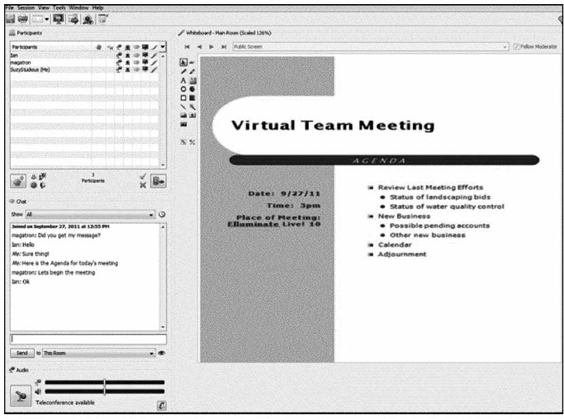 Virtual Team Meeting Virtual Team Meeting Using