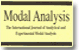 Modal Analysis, The International Journal of Analytical and Experimental Modal Analysis