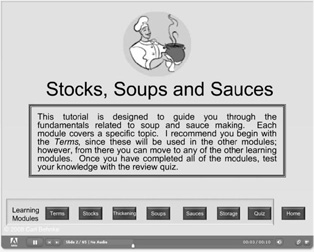 Computer-based Instructional Page Screenshots