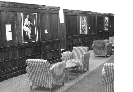 Photograph Of Updated Library Wall, Showing Three Framed, Identified Works  Of Art.