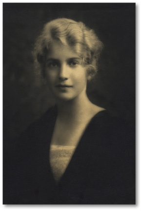 A portrait of Margaret Wise Brown.