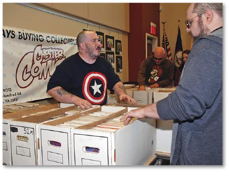 Comic-con vendor room