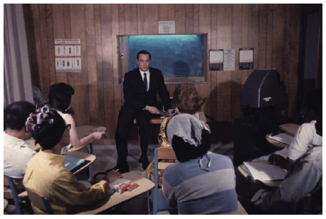 Figure 4: Dr. Sidney S. Louis leading a group therapy session. ca. 1960s (Lexington MSS).