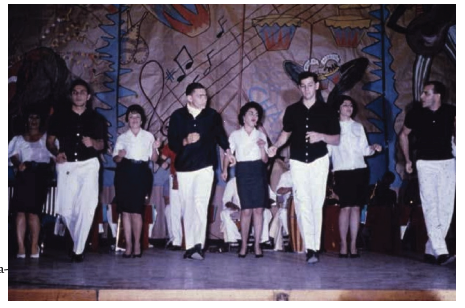 Figure 5: Patients presenting a musical theatre performance in the auditorium of the Lexington Narcotic Farm (Lexington MSS).
